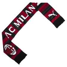 milan halstørklæde fan - rød/sort - halstørklæde