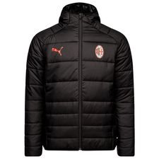 Milan Jacket Padded Fan - PUMA Black/Chili Pepper