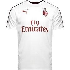milan trænings t-shirt stadium - hvid/sort - træningstrøjer