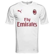 milan trænings t-shirt stadium - hvid/rød - træningstrøjer
