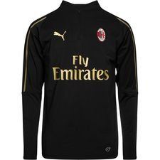 Milan Training Shirt 1/4 Zip - PUMA Black/Victory Gold