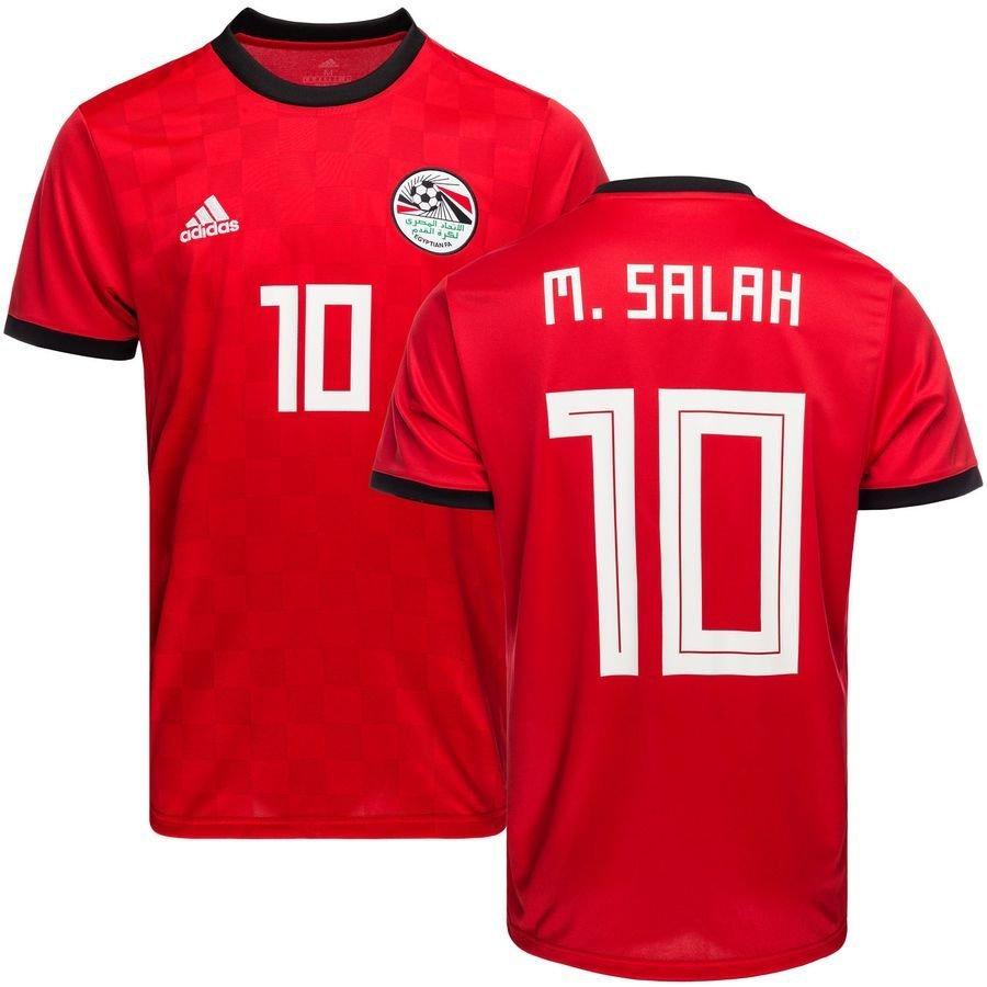 egypt home shirt world cup 2018 m. salah 10 - football shirts ... df428d164