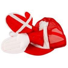 danmark klaphat - rød/hvid børn - tilbehør