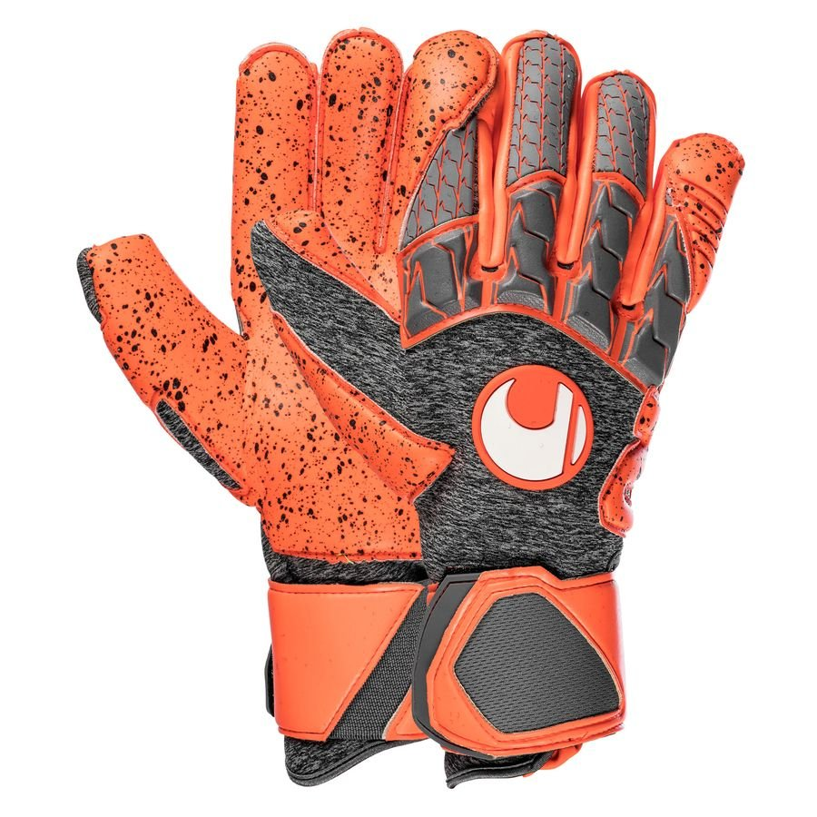 Uhlsport Gants de Gardien Rouge Supergrip - Gris/Rouge fluo