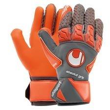 uhlsport målvaktshandske röd absolutgrip reflex - grå/röd/vit - målvaktshandskar