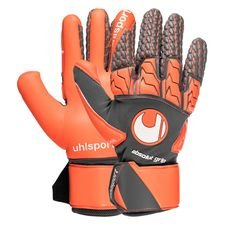 uhlsport gants de gardien rouge absolutgrip reflex - gris/rouge fluo/blanc - gants de gardien