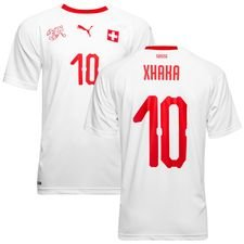 switzerland away shirt world cup 2018 xhaka 10 - football shirts