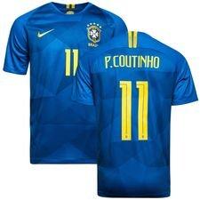 brasilien udebanetrøje vm 2018 p. coutinho 11 børn - fodboldtrøjer