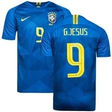 brasilien udebanetrøje vm 2018 g.jesus 9 - fodboldtrøjer