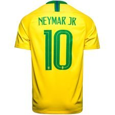 brazil home shirt world cup 2018 neymar jr 10 kids - football shirts