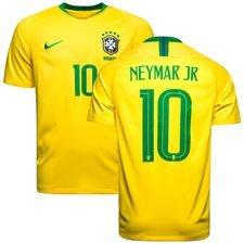 brazil home shirt world cup 2018 neymar jr 10 kids - football shirts
