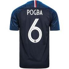france home shirt world cup 2018 pogba 6 kids - football shirts