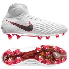 Nike Magista Obra 2 Elite DF FG Just Do It - Hvit/Lite Crimson LIMITED EDITION