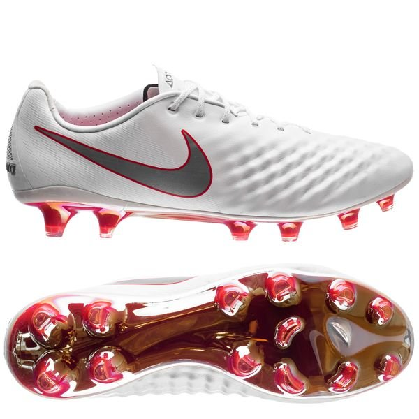 jefe Preescolar Personal  Nike Magista Obra 2 Elite FG Just Do It - White/Lite Crimson LIMITED  EDITION | www.unisportstore.com