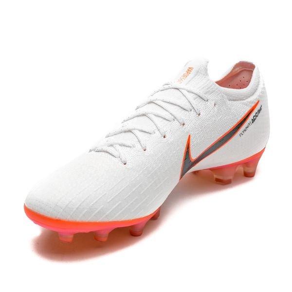 87b112eb150 Nike Mercurial Vapor 12 Elite AG-PRO Just Do It - Blanc/Orange ÉDITION
