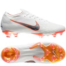 Nike Mercurial Vapor 12 Elite FG Just Do It - Hvit/Oransje LIMITED EDITION