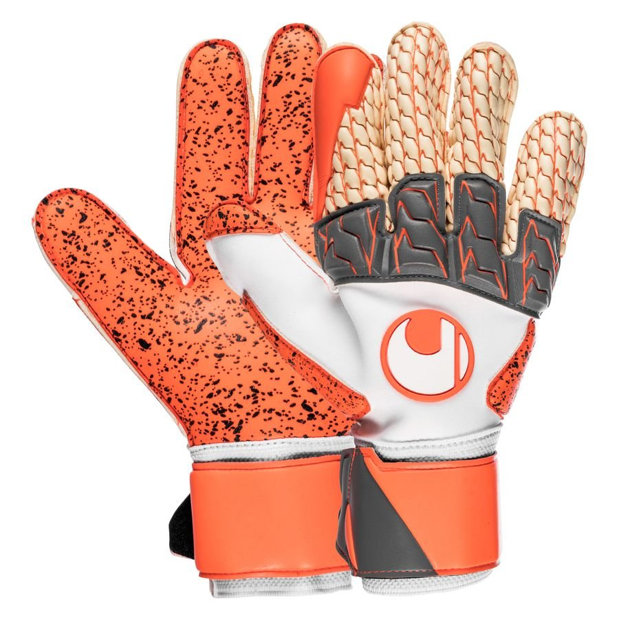 Uhlsport Gants de Gardien Rouge Lloris Supergrip - Gris/Rouge fluo