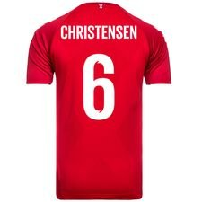 danmark hjemmebanetrøje vm 2018 pro player edition christensen 6 - fodboldtrøjer