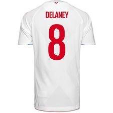 danmark udebanetrøje vm 2018 pro player edition delaney 8 - fodboldtrøjer
