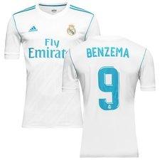 real madrid hjemmebanetrøje 2017/18 benzema 9 - fodboldtrøjer