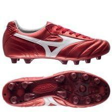Mizuno Morelia II Made in Japan FG Red Passion Pack - Rood/Wit