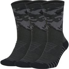 nike sokker cushion crew 3-pak - grå/grå - sokker