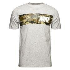 nike f.c. trænings t-shirt - grå/grøn - t-shirts