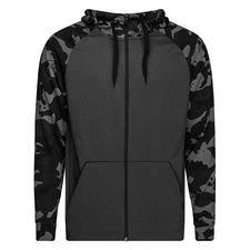nike hoodie fz dry camo - grijs/wit - hoodies