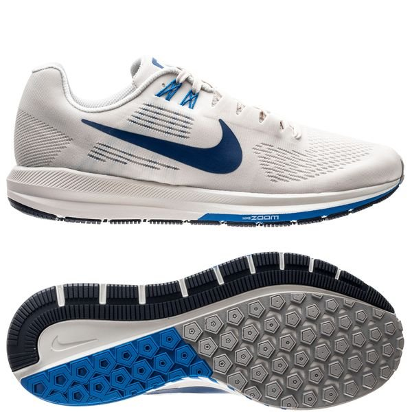 df9ad896710 Nike Running Shoe Air Zoom Structure 21 - White Gym Blue Light Bone ...