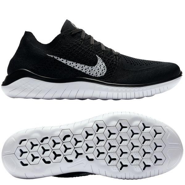 separation shoes 2d522 f84b9 Nike Free RN Flyknit 2018 - Sort Hvid