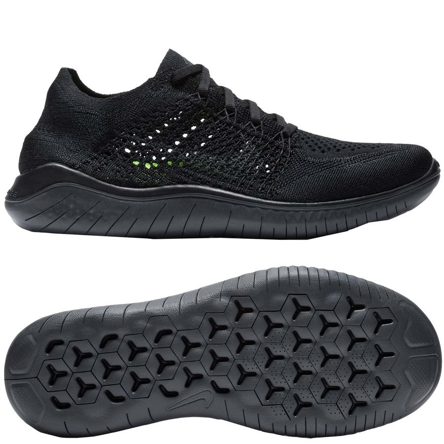 buy popular ebfa8 761bf nike free rn flyknit 2018 - blackanthracite woman - running shoes ...