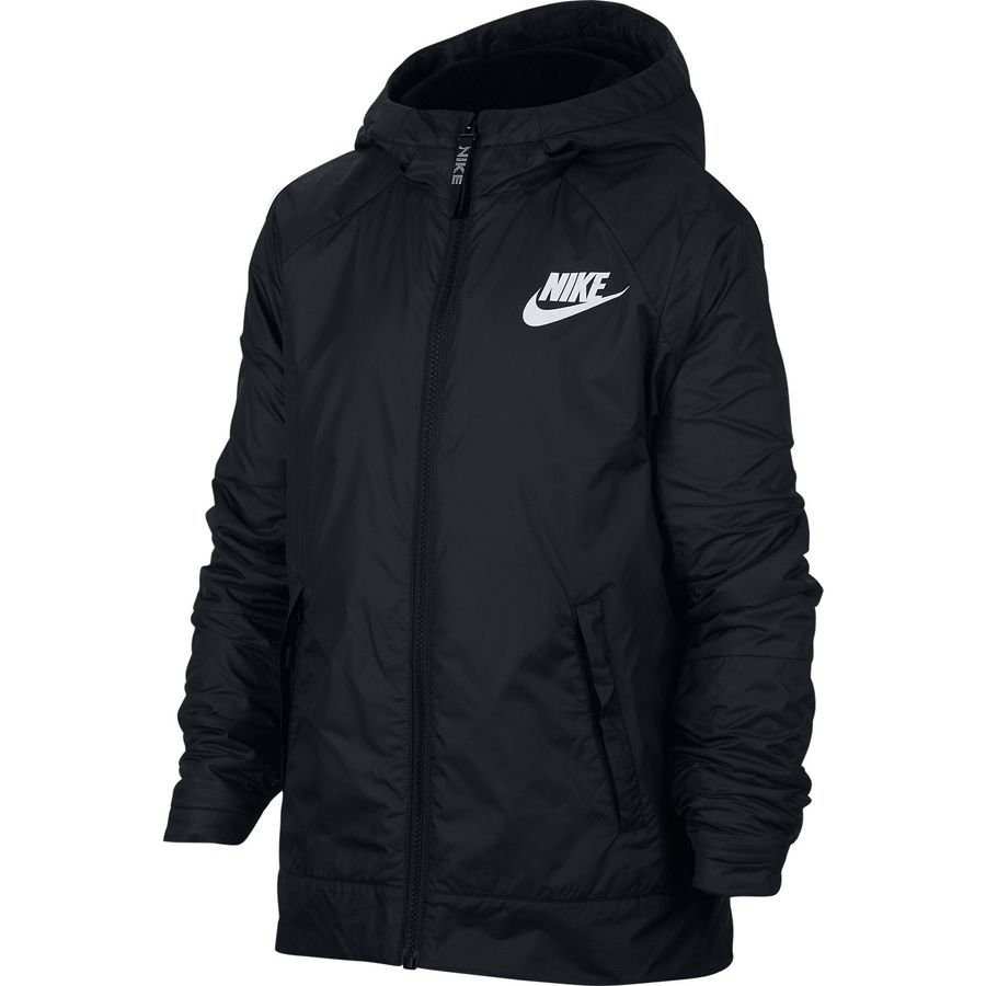 Nike Veste NSW Fleece Lined - Noir/Blanc Enfant