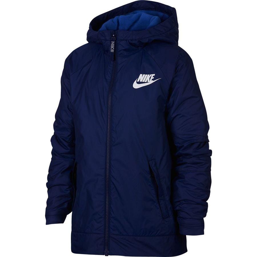 Nike Veste NSW Fleece Lined - Bleu/Blanc Enfant