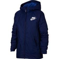 Image of   Nike Jakke NSW Fleece Lined - Navy/Hvid Børn