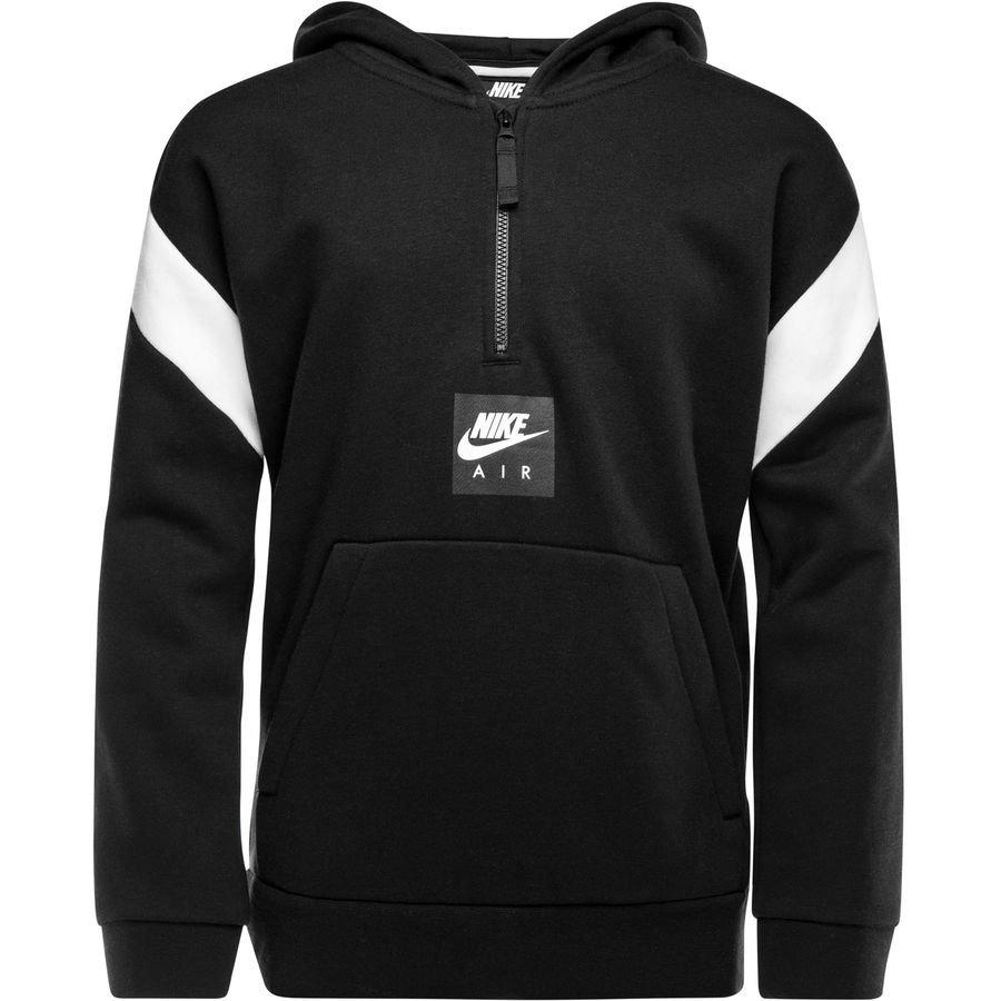 Nike NSW Sweat à Capuche Fleece Air - Noir/Blanc Enfant