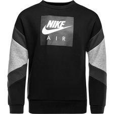 nike sweatshirt nsw air crew - svart/grå barn - sweatshirts