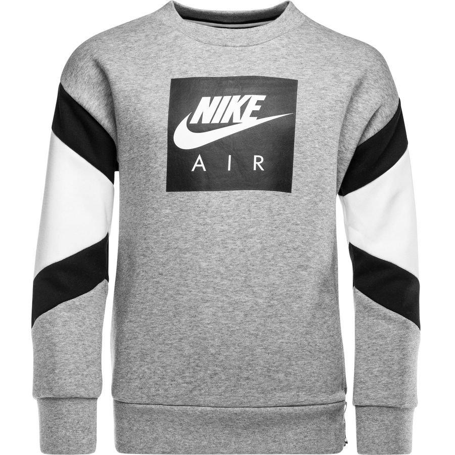10282c08fb15 nike sweatshirt nsw air crew - grau weiß schwarz kinder - sweatshirts