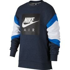 nike sweatshirt nsw air crew - navy/grå børn - sweatshirts