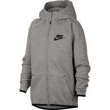 Nike Hoodie Tech Fleece Essentials FZ - Grijs/Zwart Kinderen