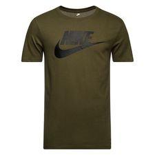 nike t-shirt nsw futura icon - grøn/sort - t-shirts
