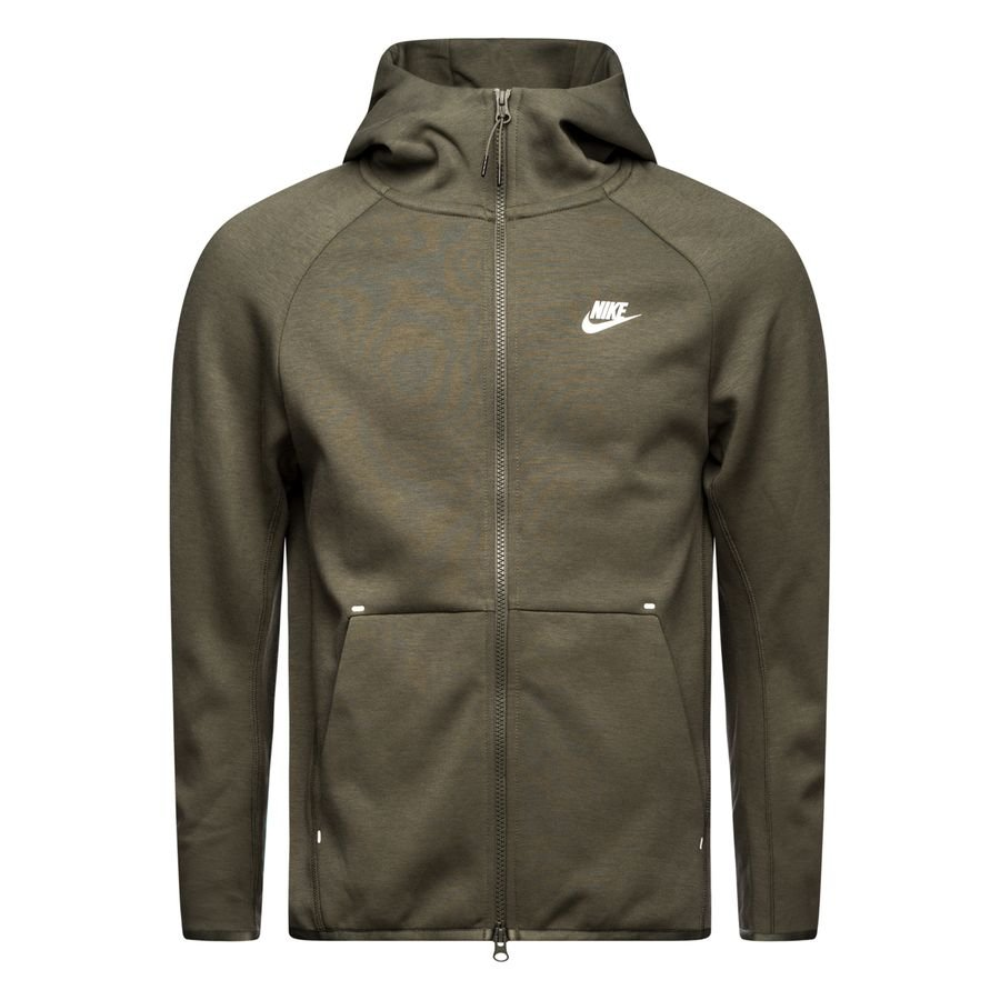 Nike Veste à Capuche FZ NSW Tech Fleece - Vert/Blanc
