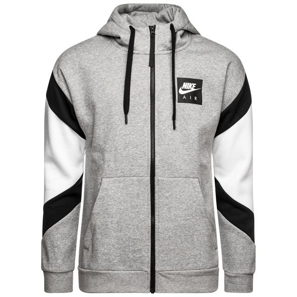 uk store buying new new release Nike NSW Hoodie FZ Fleece Air - Grey Heather/Black/White