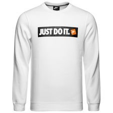 nike sweatshirt nsw crew fleece - hvid - sweatshirts