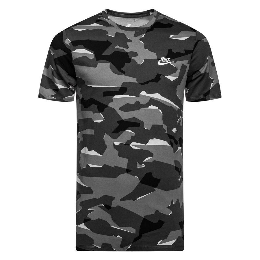 Nike T Shirt NSW Camo GråVit