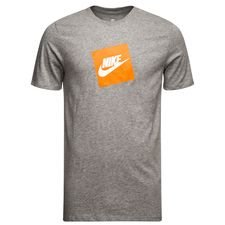 nike t-shirt nsw futura box - grå/hvid - t-shirts