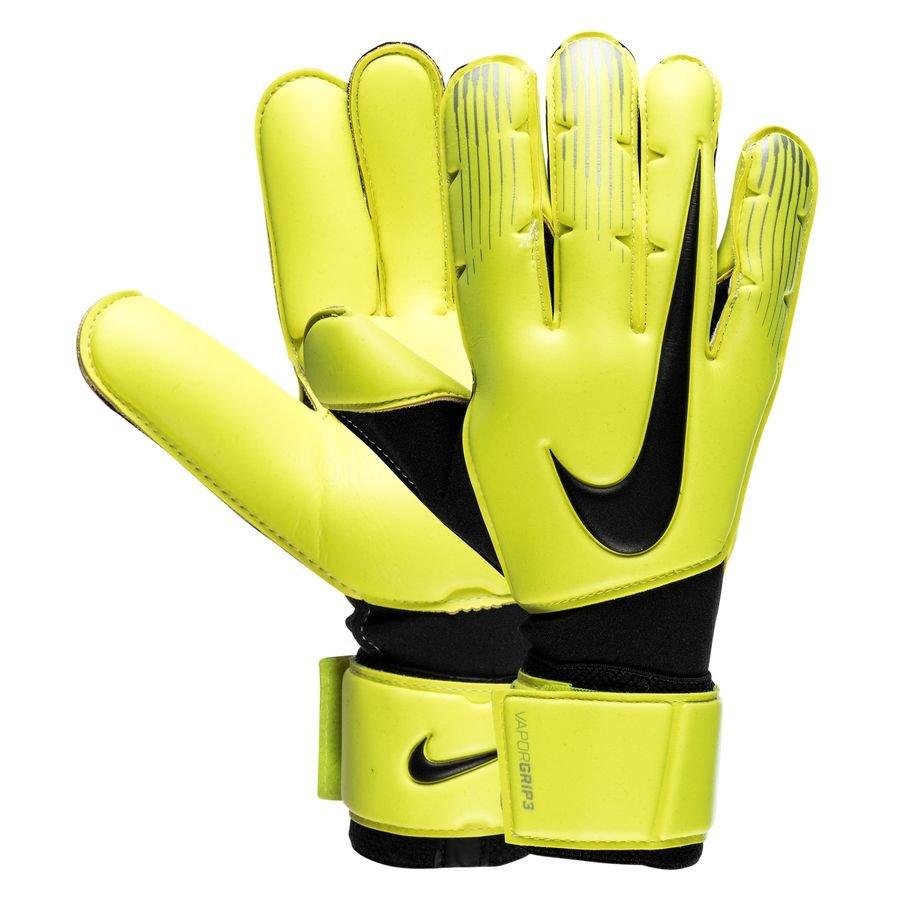 Nike Gants de Gardien Vapor Grip 3 - Jaune Fluo Noir
