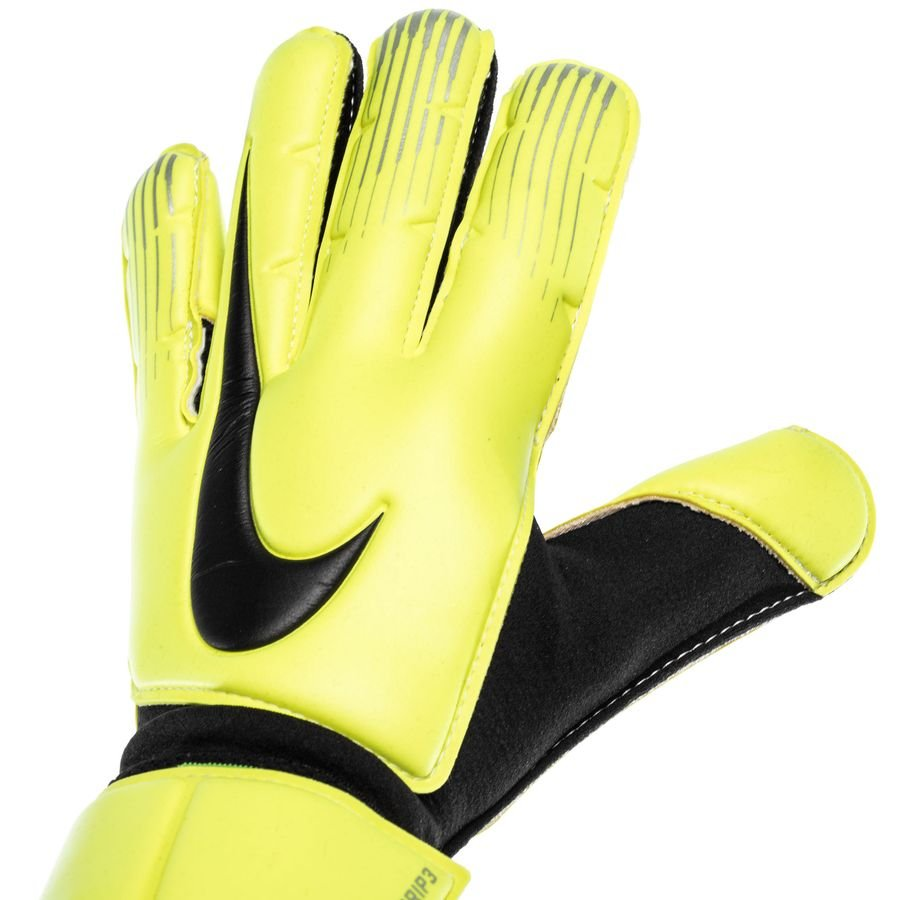 nike gants de gardien vapor grip 3 jaune fluo noir. Black Bedroom Furniture Sets. Home Design Ideas