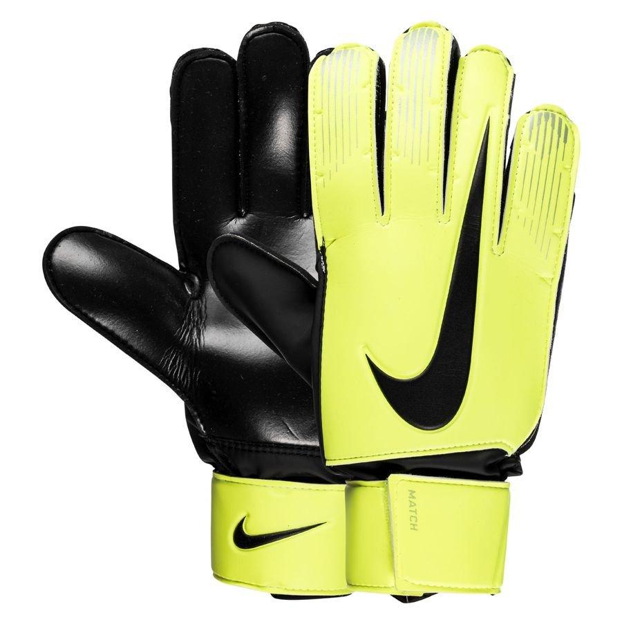 nike gants de gardien match jaune fluo noir. Black Bedroom Furniture Sets. Home Design Ideas