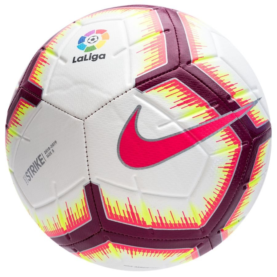 Nike Ballon Strike La Liga - Blanc/Rose/Bordeaux