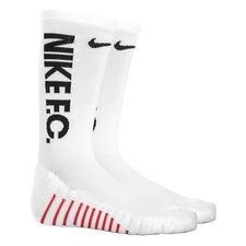 nike fodboldsokker nike f.c. crew - hvid/sort - sokker